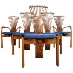 Torstein Nilson Sculptural Scandinavian Modern Dining Chairs