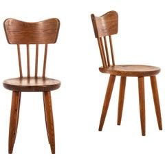 Torsten Claeson Dining Chairs by Steneby Hemslöjd in Sweden