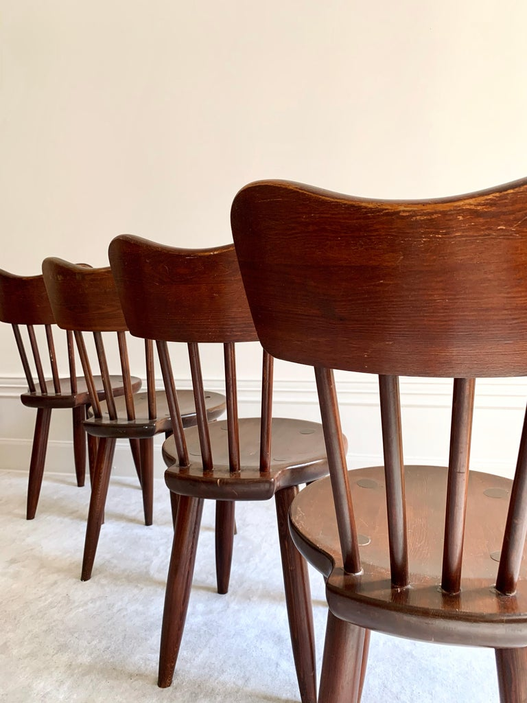 Swedish Torsten Claeson Dining Chairs for