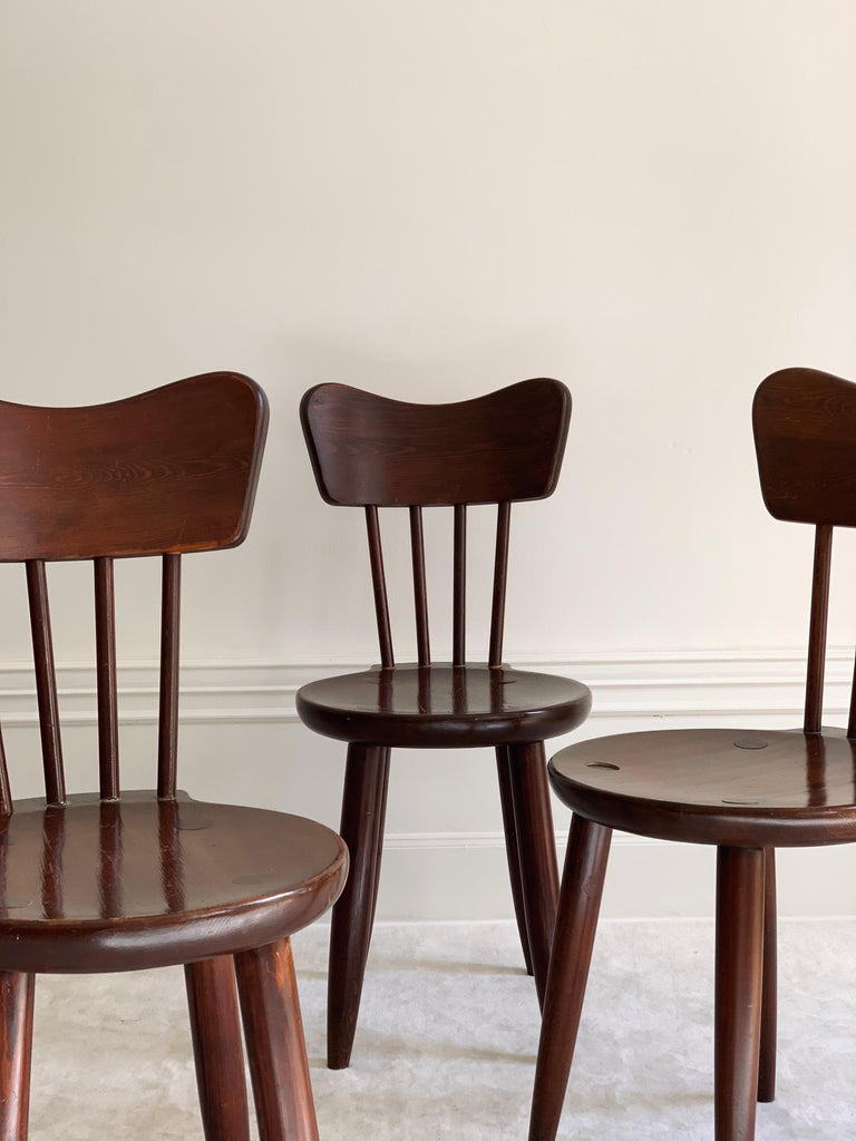 Stained Torsten Claeson Dining Chairs for