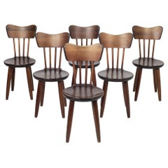 Torsten Claeson Set of 6 Pine Wood Dining Chairs, 1930, Sweden