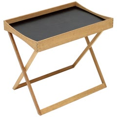 Torsten Johansson, Foldable Oak Tray Table for Bo-Ex, 1960s