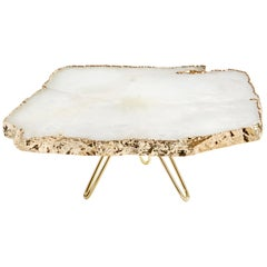 Torta Cake Stand in Agate and Gold by Anna Rabinowitz