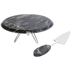 Torta Cake Stand in Marble and Metal by Anna Rabinowitz