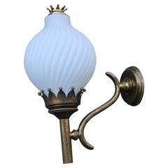 Tortiglioni Wall Lamp Arredoluce Monza Angelo lelii Mid-Century Italian Brass