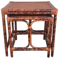 Tortoise Bamboo Stacking Tables