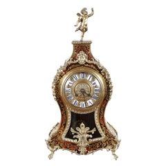 Tortoise Shell-and-Brass Clock