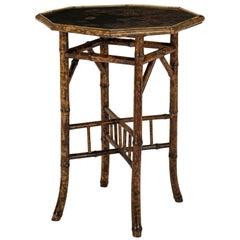 Tortoise Shell Bamboo Side Table