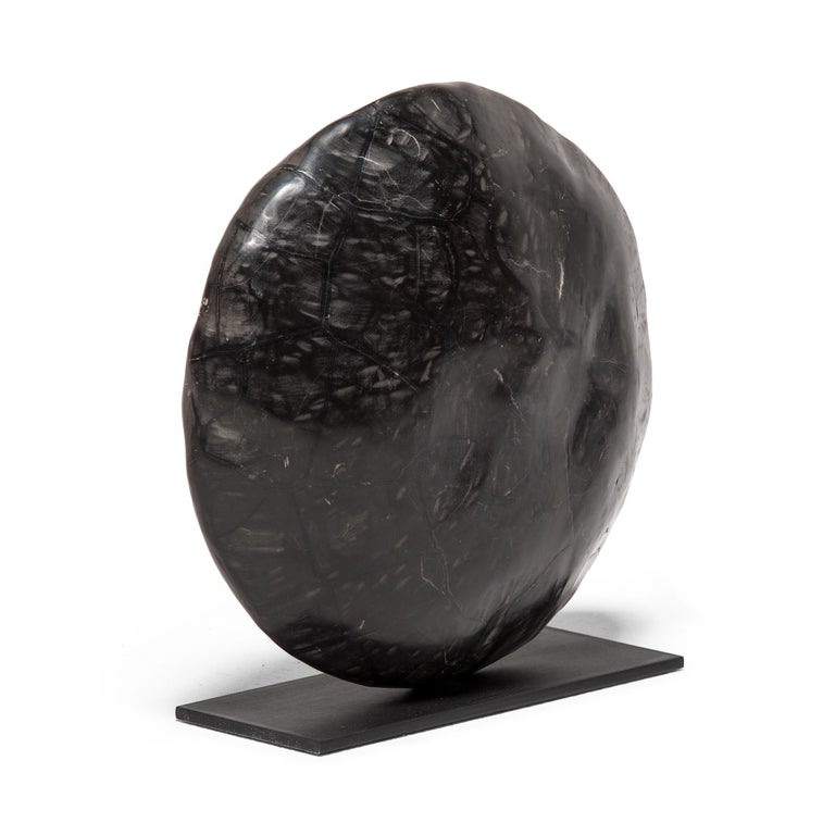 Polished Tortoise Shell Meditation Stone Sculpture For Sale