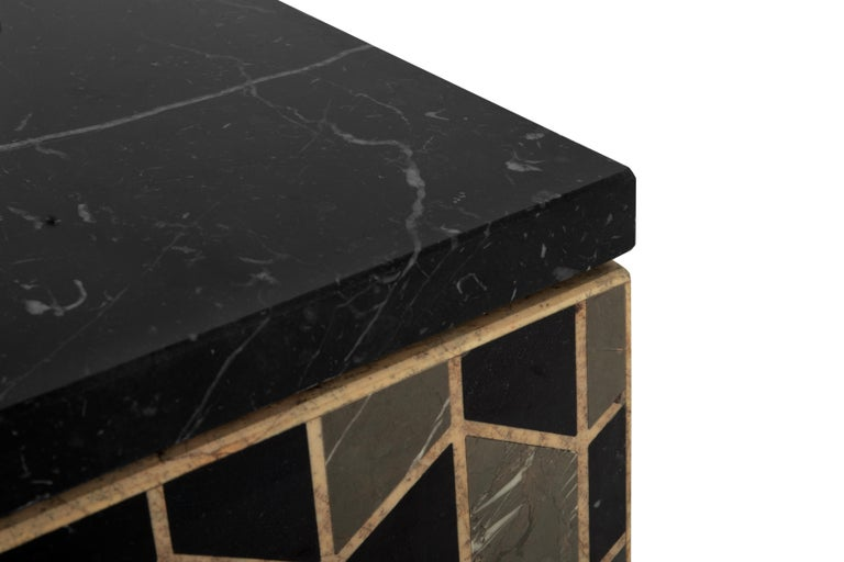 Modern Tortoise Single Washbasin with High Gloss Black Lacquered Wood Structure For Sale