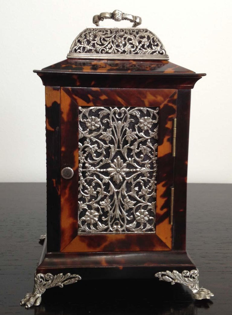 Tortoiseshell and Silver Carriage Clock John Batson, London, Circa 1890 For Sale 5