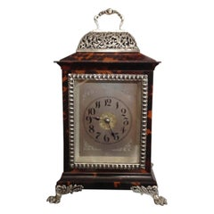 Tortoiseshell and Silver Carriage Clock John Batson, London, Circa 1890