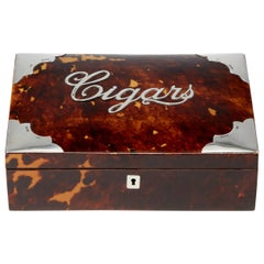 Tortoiseshell and Silver Cigar Box Pearce and Thompson, Birmingham, 1897