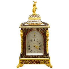 Tortoiseshell Bracket Clock by Payne & Co. London