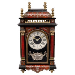 Inlaid Red Tortoiseshell Clock by Marti of Paris