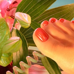 Galatea 9 - Contemporary Photography, Pop Art, Nude, Feet, Telephones, Lilies