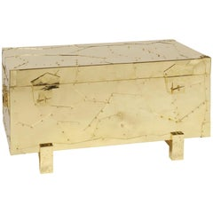 Tortuga Chest with Polished Brass Finish