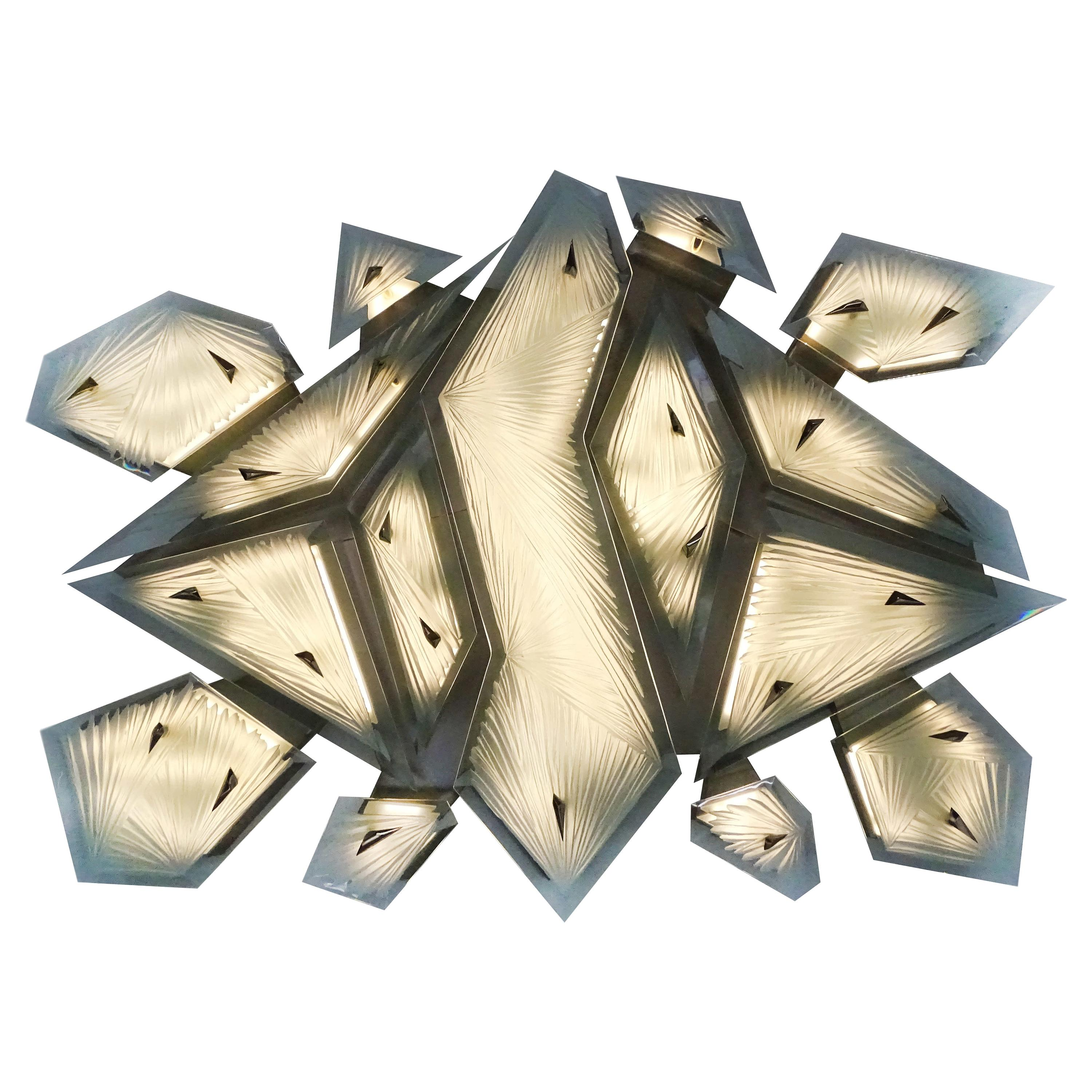 Tortuga Sculptural Wall Sconce by Ghirò Studio for Fabio Ltd