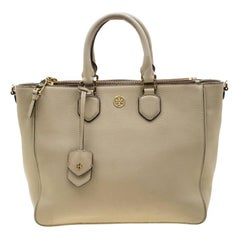 Tory Burch Beige Leather Tote