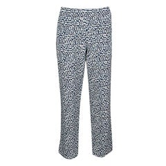 Tory Burch Blue and White Peninsula Tribal Tonal Print Pants XL