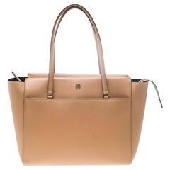 Tory Burch Brown Leather Large Parker Tote