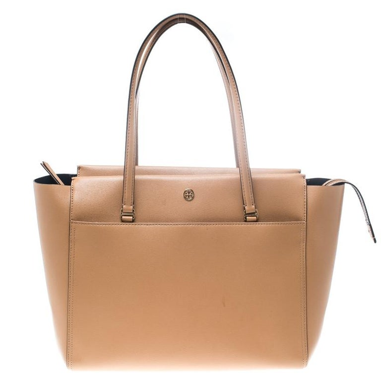 e461714cbf3c Tory Burch Brown Leather Large Parker Tote For Sale at 1stdibs