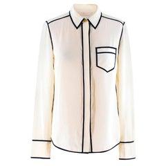 Tory Burch Cream Silk Shirt Blouse XXS