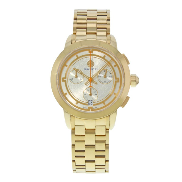 c35445fb40a Tory Burch Ion Gold-Plated Steel Silver Dial Quartz Unisex Watch TRB1000  For Sale