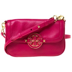Tory Burch Magenta Leather Amanda Crossbody Bag