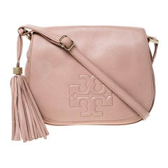 Tory Burch Pink Leather Flap Crossbody Bag
