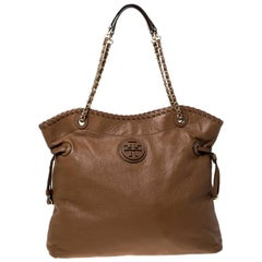 Tory Burch Royale Tan Leather Marion Chain Tote