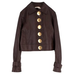 Tory Burch Scalloped Leather Jacket - Current Season SIZE XS