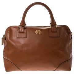 Tory Burch Tan Leather Boston Bag