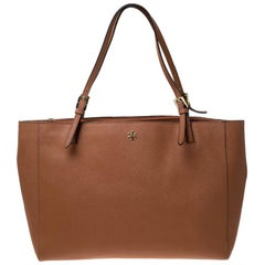Tory Burch Tan Leather Large York Buckle Tote