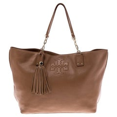 Tory Burch Tan Leather Shopper Tote