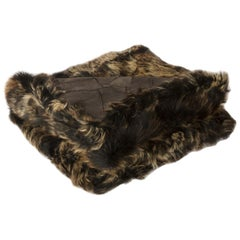 Toscana Sheep Throw Unlined, Truffle