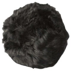 Toscana Sheepskin, Fur Snowball Pillow Black