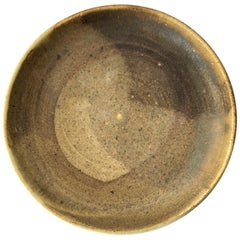 Toshiko Takaezu Stoneware Abstract Glazed Pottery Plate
