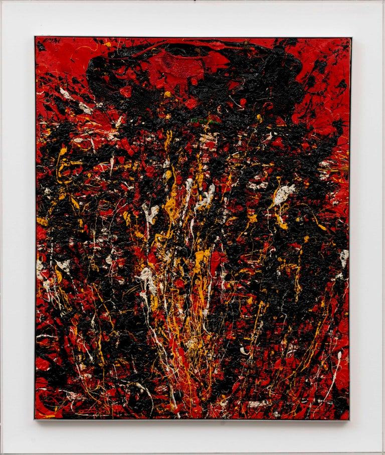 Toshimitsu Imai Abstract Painting - Soleil Fendu by TOSHIMITSU ÏMAI - Abstract, Oil painting, Art Informel Movement
