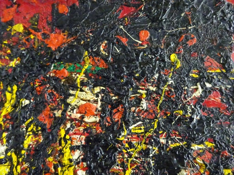 Soleil Fendu by TOSHIMITSU ÏMAI - Abstract, Oil painting, Art Informel Movement - Black Abstract Painting by Toshimitsu Imai