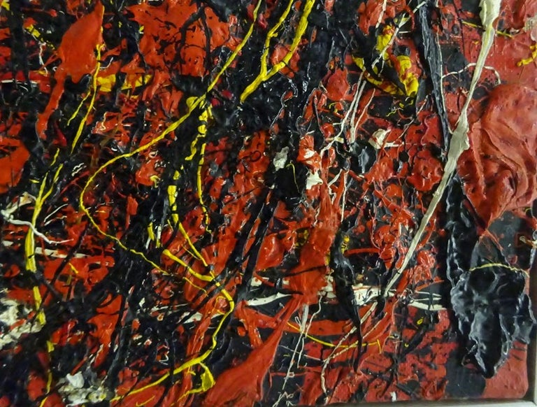 Soleil Fendu by TOSHIMITSU ÏMAI - Abstract, Oil painting, Art Informel Movement For Sale 1