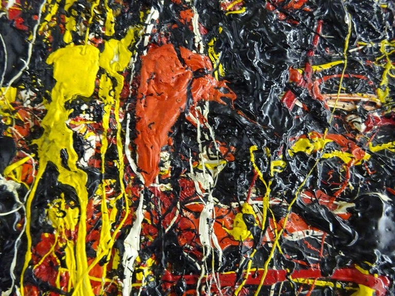 Soleil Fendu by TOSHIMITSU ÏMAI - Abstract, Oil painting, Art Informel Movement For Sale 2