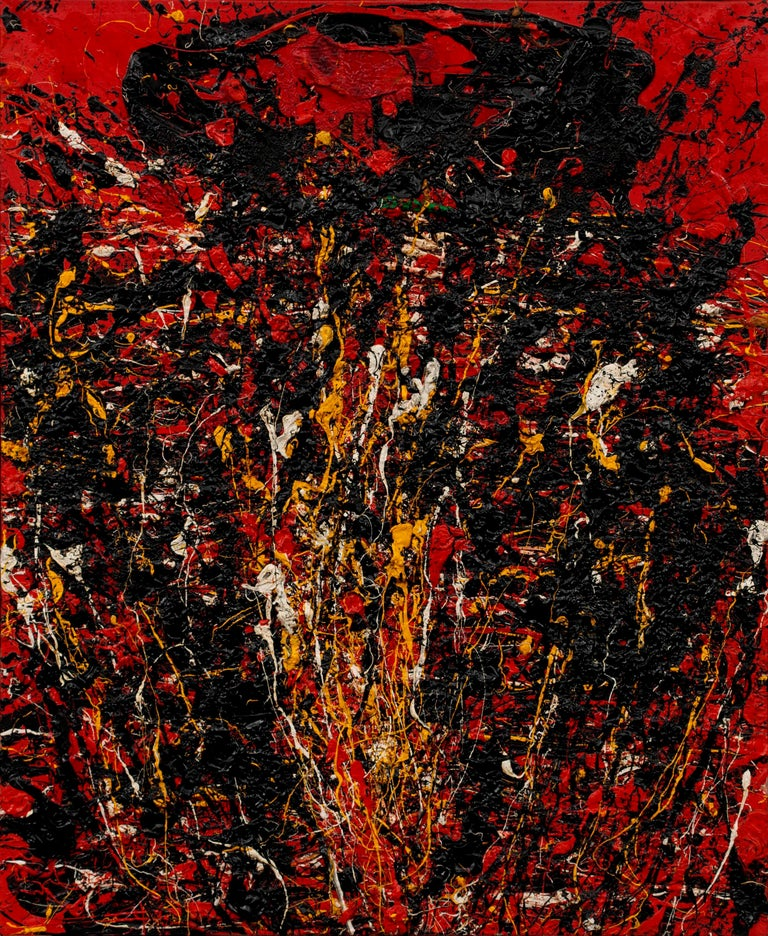 Soleil Fendu by TOSHIMITSU ÏMAI - Abstract, Oil painting, Art Informel Movement - Painting by Toshimitsu Imai
