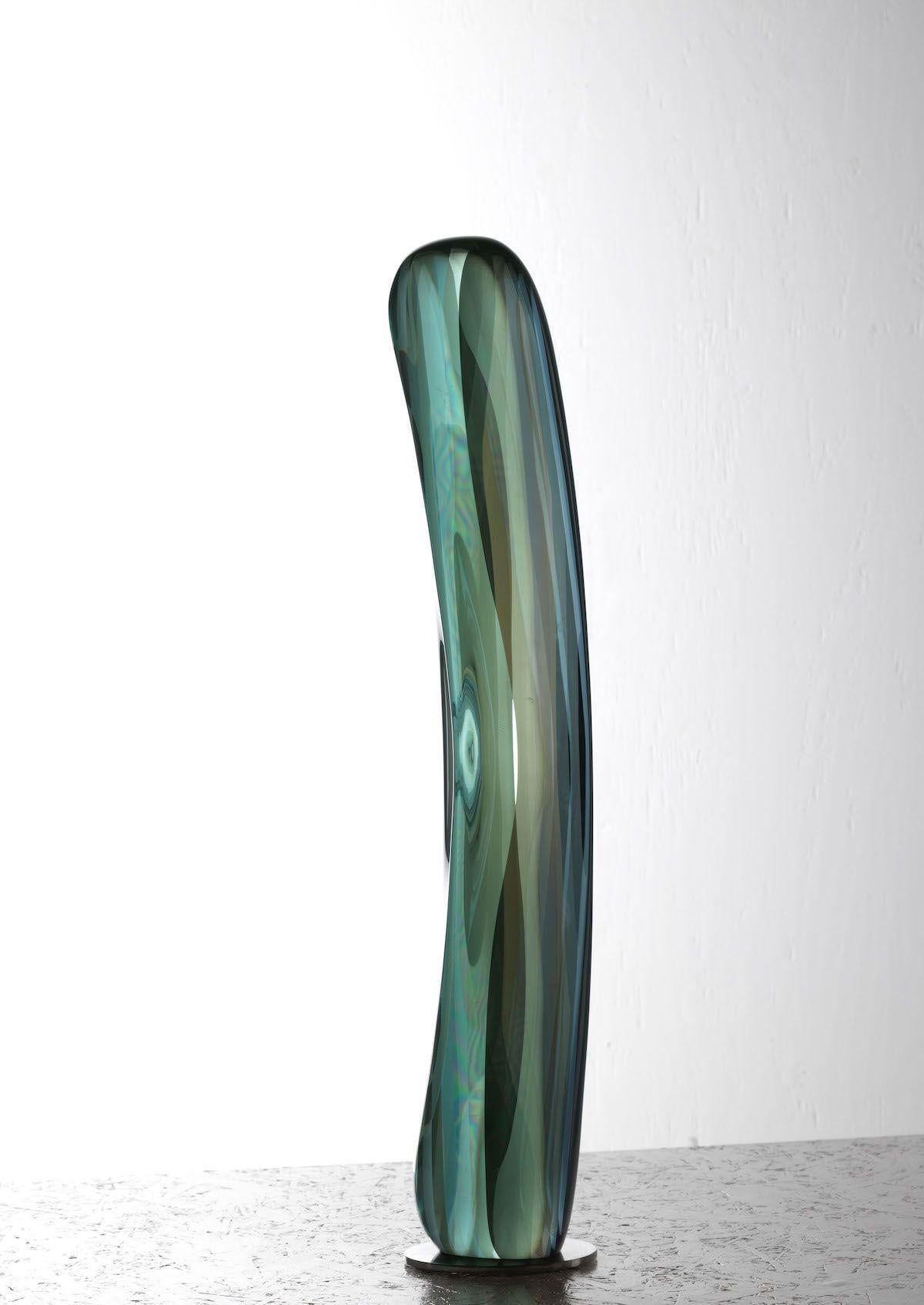 M.180205 by Toshio Iezumi - Glass, Vertical abstract sculpture