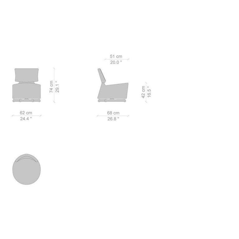 Italian Toshiyuki Kita 'Aki' Swivel Armchair by Cassina For Sale