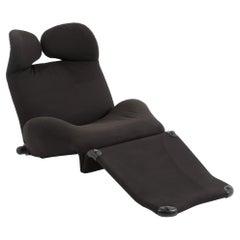 Toshiyuki Kita's for Cassina Wink Chair in Black Fabric