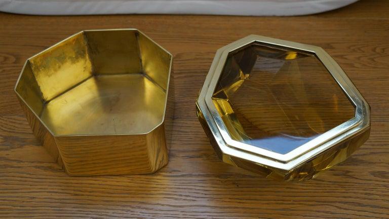 Toso Mid-Century Modern Amber Molato Murano Glass Jewelry Box, 1982 For Sale 7