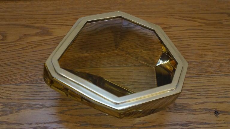 Toso Mid-Century Modern Amber Molato Murano Glass Jewelry Box, 1982 For Sale 8