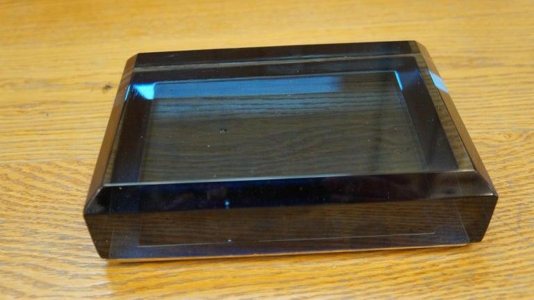 Toso Mid-Century Modern Blue Molato Murano Glass Jewelry Box, 1982 For Sale 5