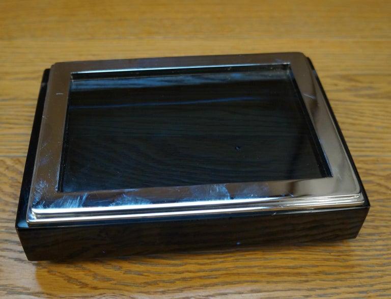 Toso Mid-Century Modern Blue Molato Murano Glass Jewelry Box, 1982 For Sale 9